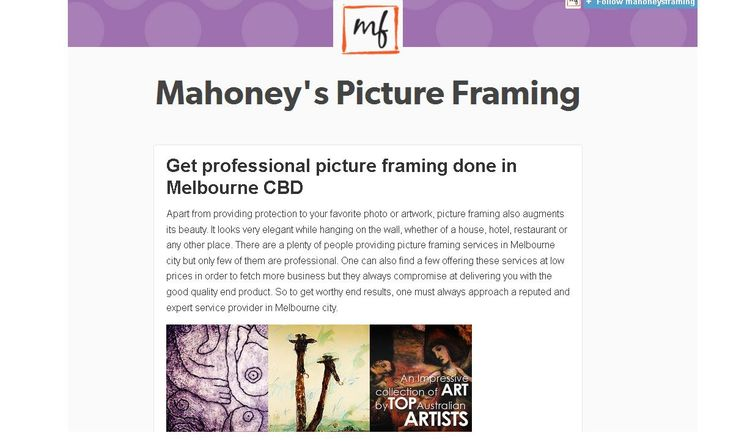 Get professional picture framing done in Melbourne CBD