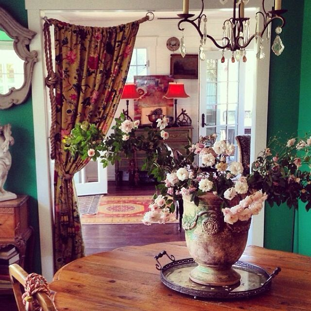 curtain -- hang with rope & O-rings--in front room! Creativity Takes Courage {Tracy Porter} | Jeanne Oliver