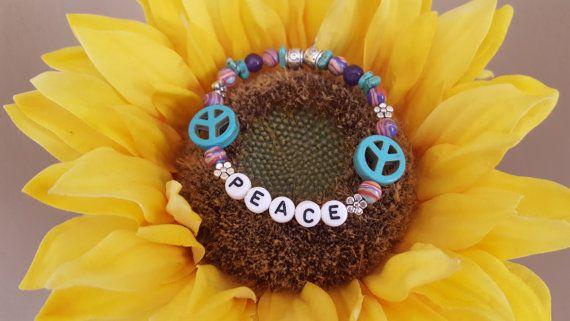 PEACE - Summer Campy Bracelet