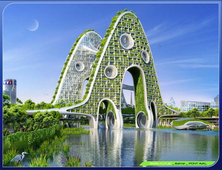 архитектура город будущего, экологический город будущего, Париж 2050 год, Smart City, Винсент Каллебо, Vincent Callebaut, футуропроекты города будущего