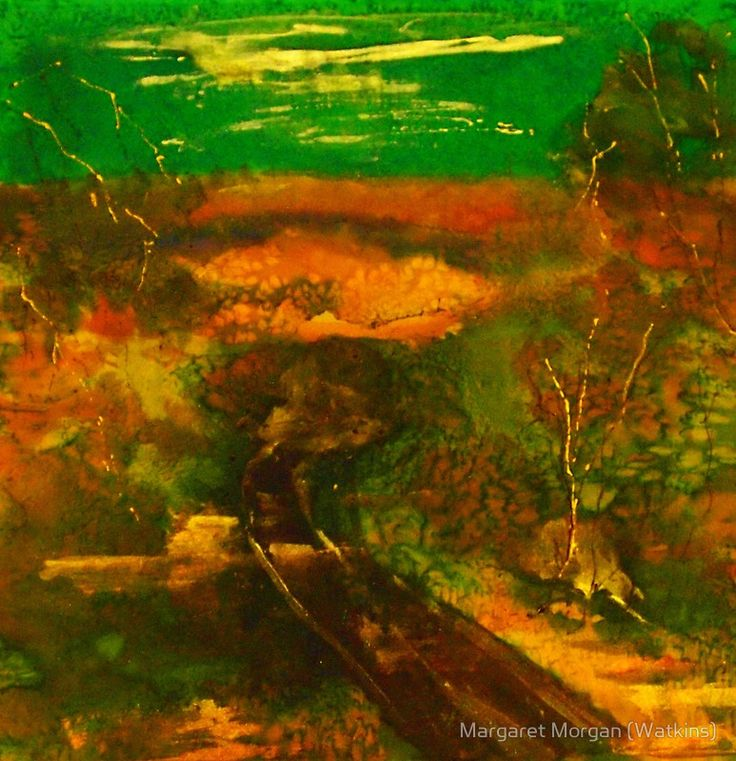 Towards Kilmore East VIC Australia (silk paint)