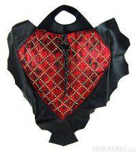 Luxusní kožená kabelka fasco Berlin Fish Design 68635 červená