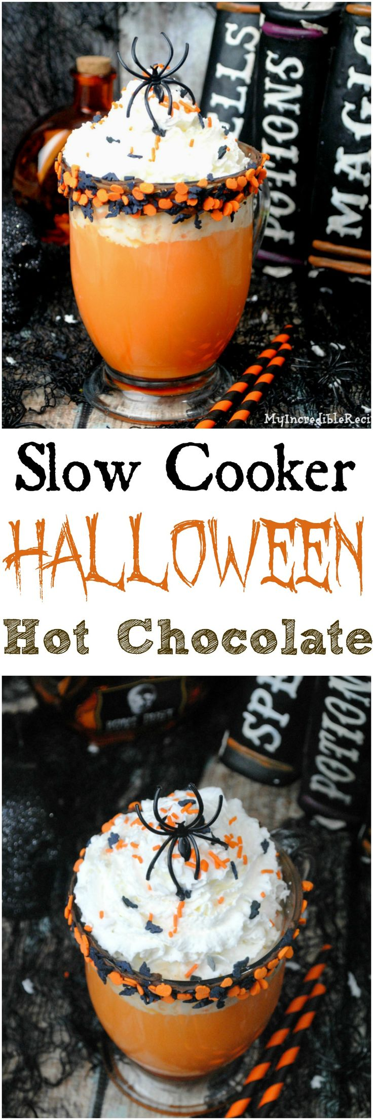 Slow Cooker Halloween Hot Chocolate!                                                                                                                                                                                 More