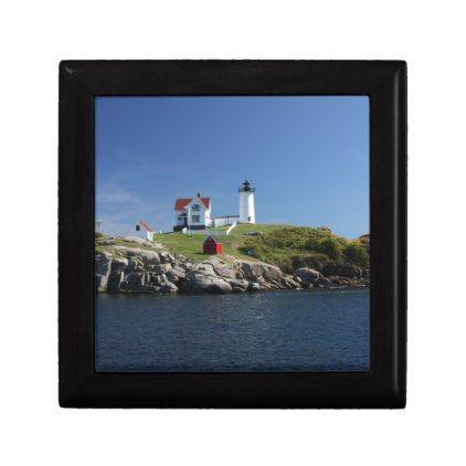 004 - Cape Neddick Nubble Lighthouse Gift Box - coast design nature ocean diy custom