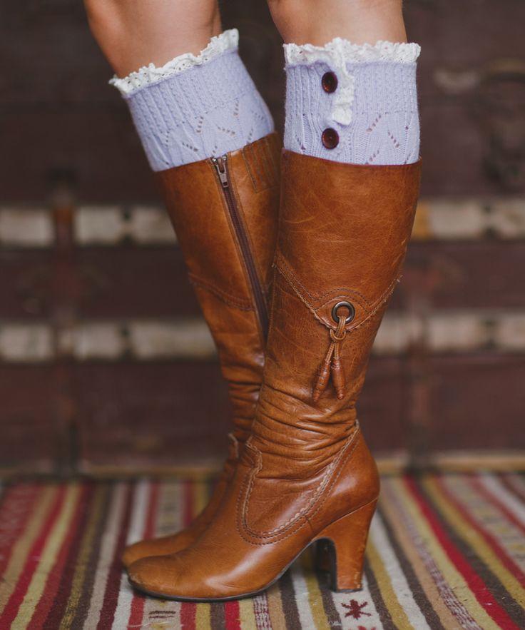 Cute boot cuffs.
