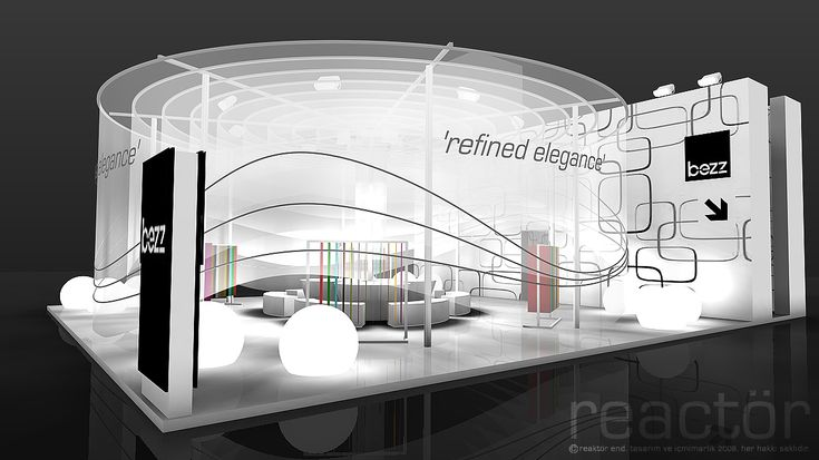 Creative exhibition booths for trade-shows created by TriadCreativeGroup.com inspired by artistic design and architecture. (The booth in the picture is not one of ours)