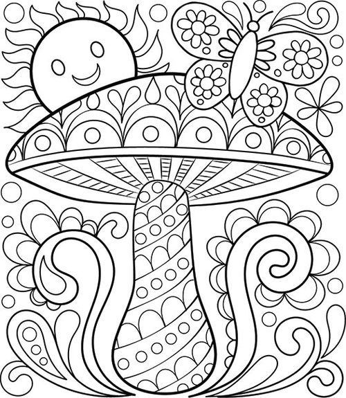free adult coloring pages detailed printable coloring pages for grown ups - Color Book Printable