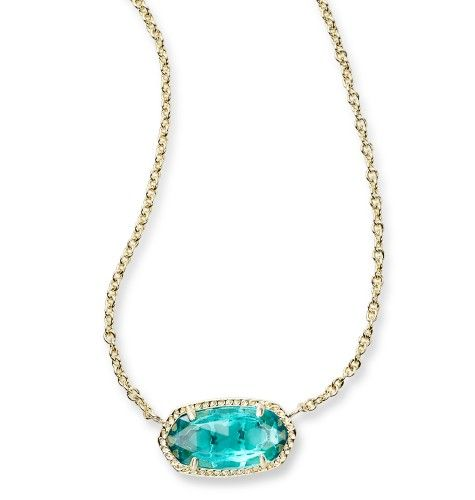 Elisa Pendant Necklace in London Blue