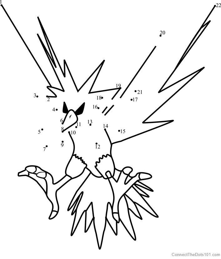 Zapdos Pokemon Go Dot To Dot Zapdos Pokemon Pokemon Zapdos