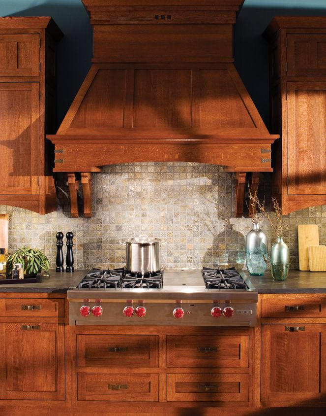 For A Craftsman Styled Kitchen, A Pair Of Dura Supreme Cabinetry Corbels  Are Used On