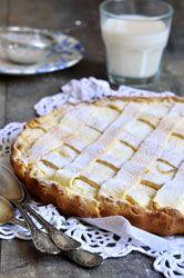 Crostata à la ricotta un délicieux dessert Italien fourré d'une crème à la ricotta