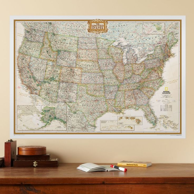 Best Maps Images On Pinterest Us Map United States Map And - Wall map of us national parks