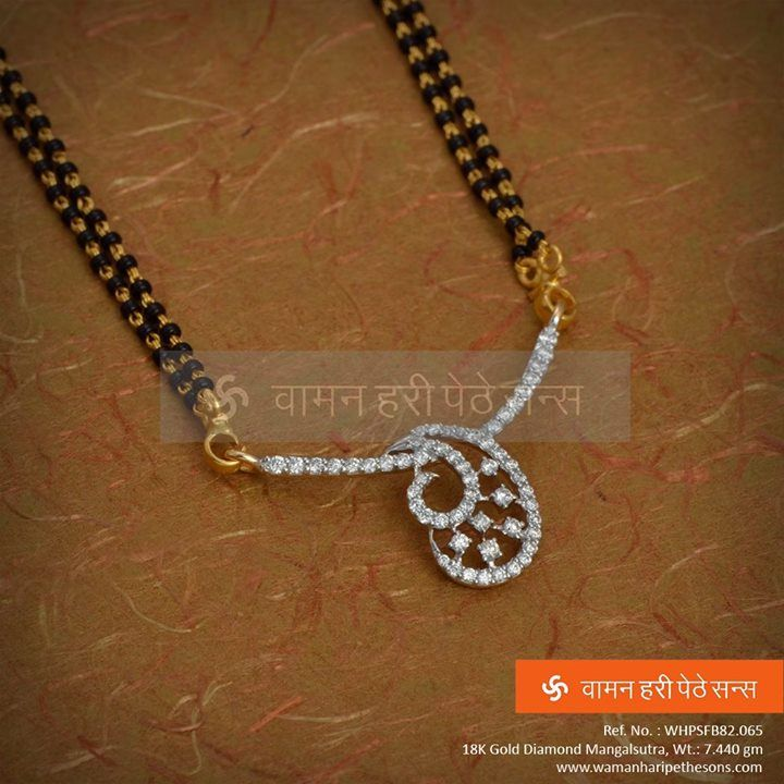 #Stunning #gorgeous #attractive #gold #diamond #mangalsutra set from our collection for the eternal beauty in you.