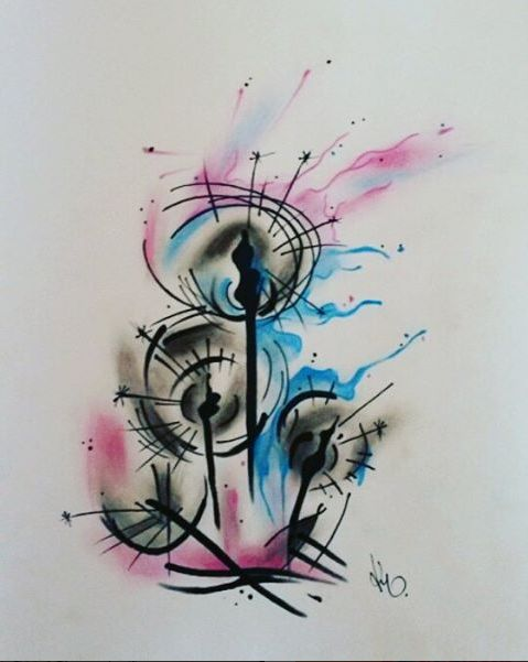 Watercolor Design. Artist: Kegan Neuper.  Style Ink Tattoos