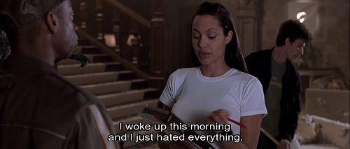 """""""I woke up this morning and I just hated everything."""" - Lara Croft #tombraider #laracroft"""