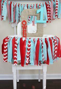 diy high chair fabric banner - Google Search