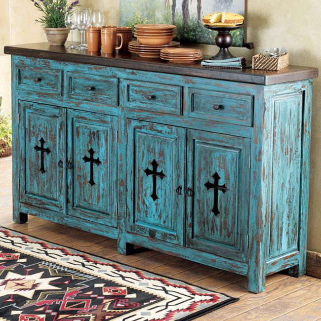 DIY? Love these colors for a rustic look to mix with antiques. Lone Star Furniture