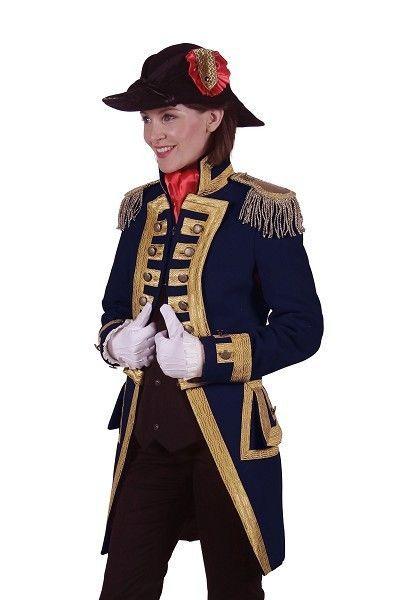 Carnavalskleding Marine Dames.Carnavalsjas Nelson Dames Marine Blauw In Toneelkwaliteit Zijn