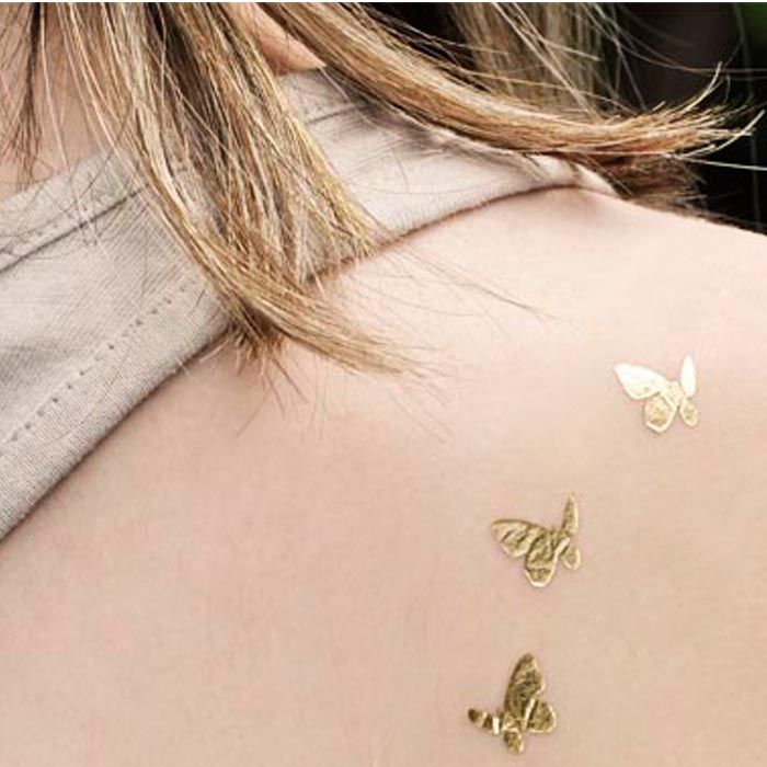 Fluturi aurii - www.goldtattoo.ro ~ Temporary Tattoo Butterfy