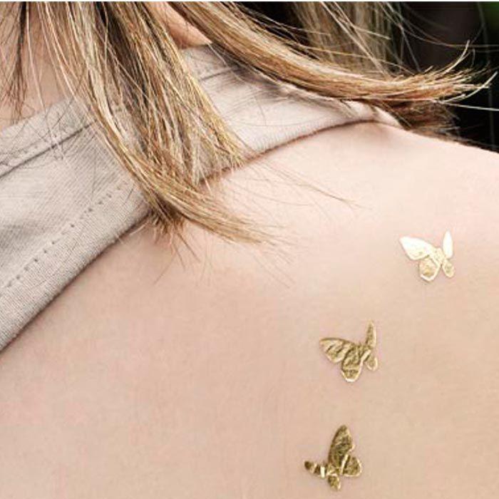 Fluturi aurii - www.goldtattoo.ro ~ Temporary Tattoo Butterfy