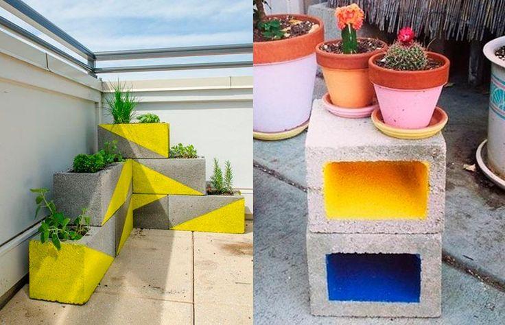 11 ideias de móveis feitos com... tijolos