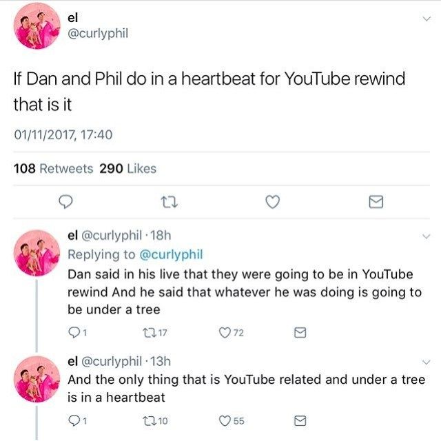 HOLY CRAP | DAN AND PHIL YOUTUBE REWIND 2017 | IN A HEARTBEAT | OKAY TO CLARIFY HE DIDN'T SAY IT REQUIRED HIM BEING UNDER A TREE HE JUST SAID HE WAS FILMING NEAR A TREE