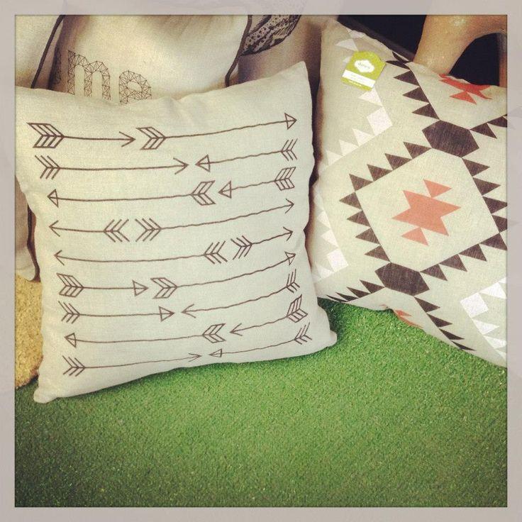 New Arrow and Aztec Pillows - Yellow Umbrella, Bemidji MN