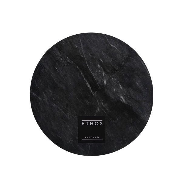 Hamilton Marble Round Board Black - 25cm