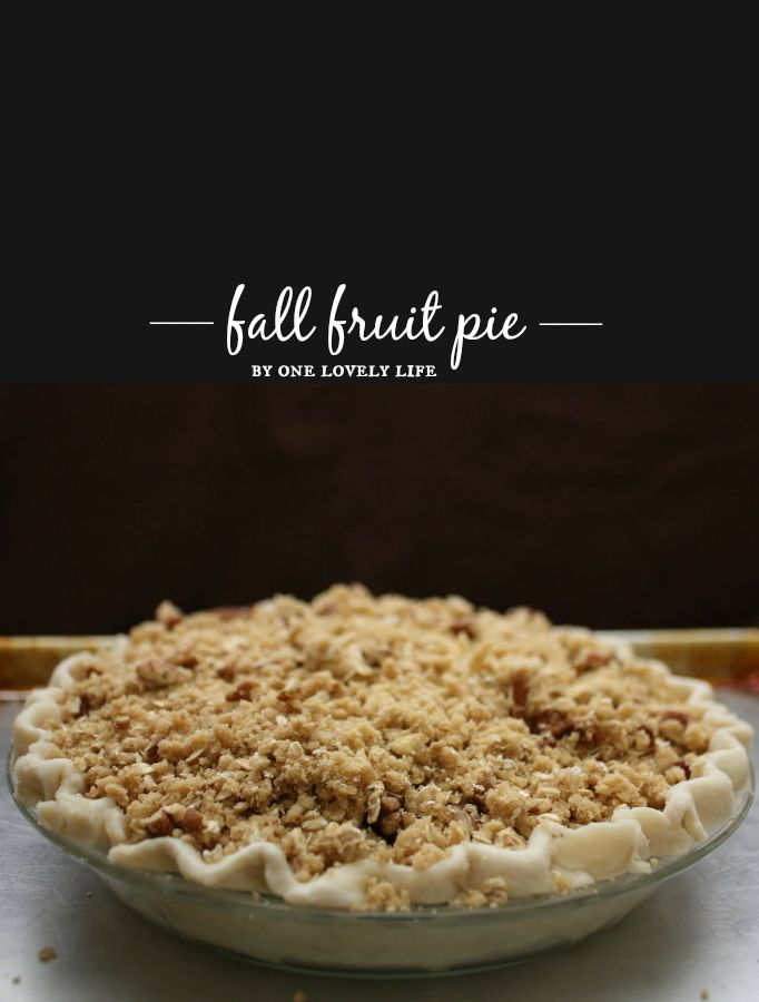 I can't get enough of this Fall Fruit Pie - A cozy pie filled with warm fall fruits and topped with a pecan crumble.