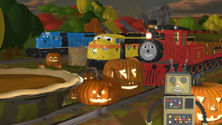 Your child will learn about EIGHT (8) different sizes of pumpkins with Shawn the Train and his team (small, medium, large, short, tall, narrow, wide and GIAN...