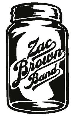 ZAC BROWN BAND Mason Jar Logo * Vinyl Decal Sticker