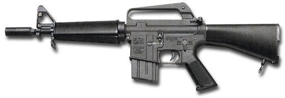 CAR-15 - The Colt Automatic Rifle-15 Military Weapons System or CAR-15 was a family of AR-15 and M16 rifle–based firearms marketed by Colt in the late 1960s and early 1970s. Due to their compact size, the short-barreled Colt Commando and XM177 versions of this family continued to be issued to the U.S. military after the Vietnam War.