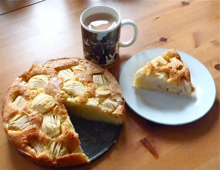 German Sunken Apple Cake Recipe--this looks delicious.