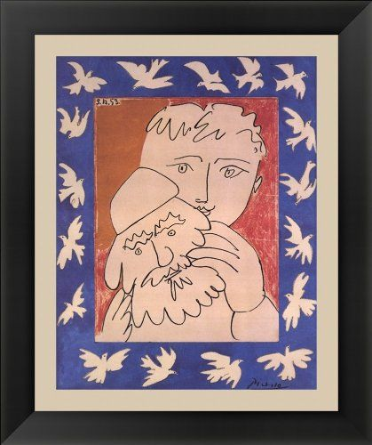 New Year by Pablo Picasso Framed Art, Size 13.25 X 15.75
