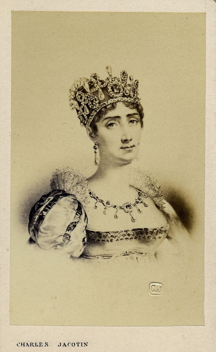 Keizerin Joséphine de Beauharnais. Visitekaart portret Charles Jacotin. Foto verzameling Wilfried Vandevelde.