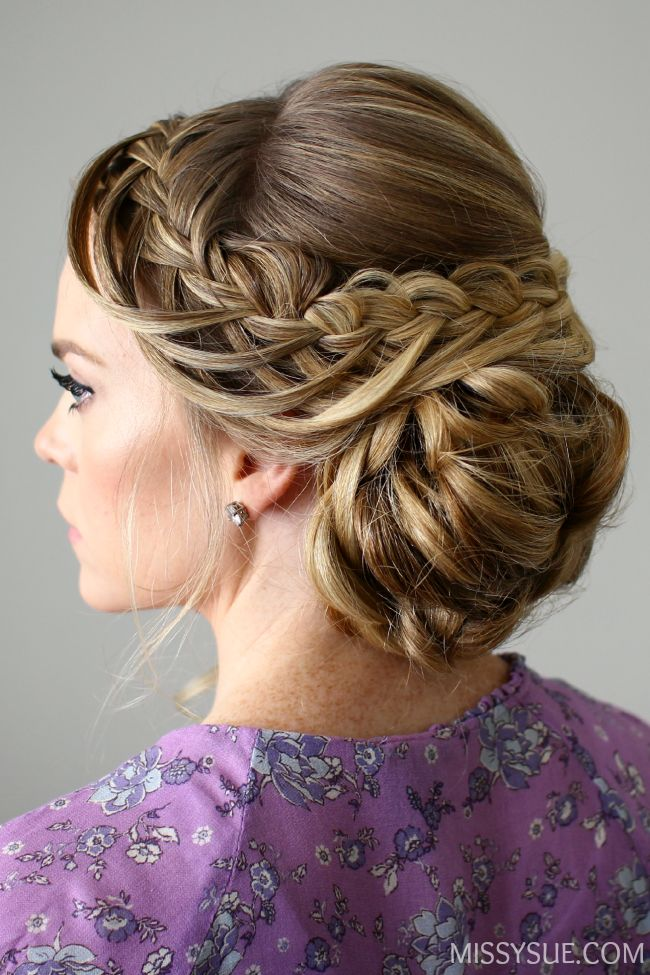 hair styles to do with curly hair looped braid updo hair tutorials updo and 3044 | 9626f2b92b0e568639446bb01032215e