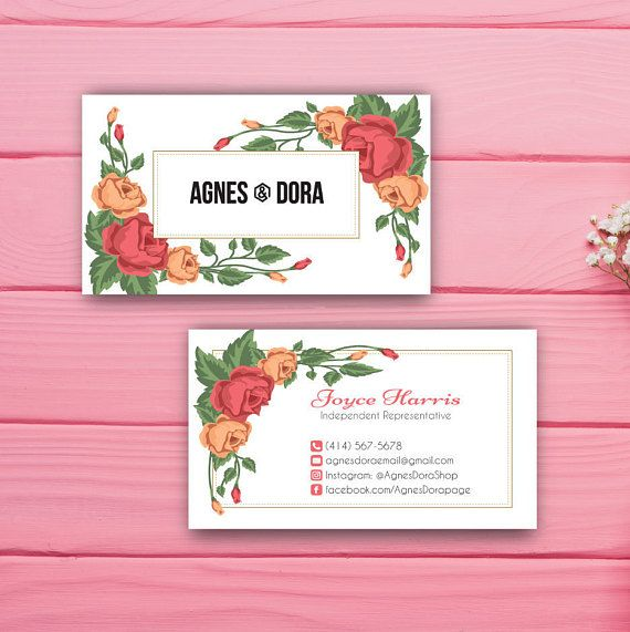 Agnes and Dora Business Card Custom Agnes and Dora Business