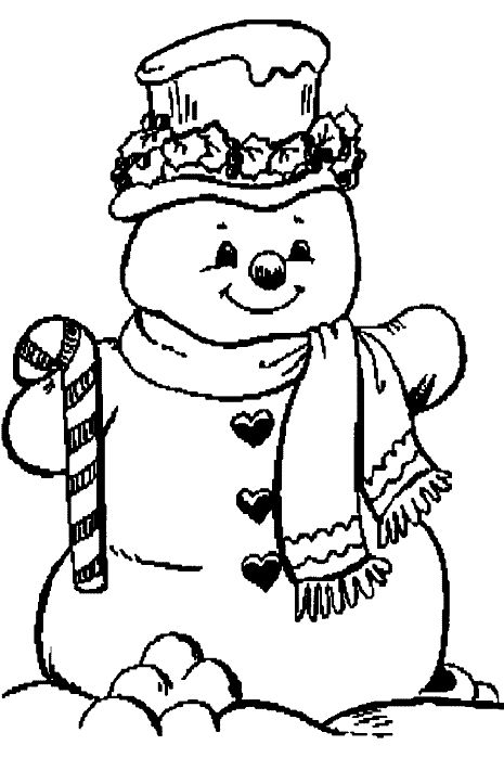 Coloring Page - Christmas snowman coloring pages 24