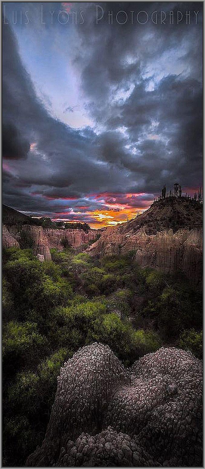 MEXICO ♦♦♦ Los Resumideros Sunset, Tehuacán - Cuicatlán biosphere reserve, Puebla   #by Luis Lyons on 500px