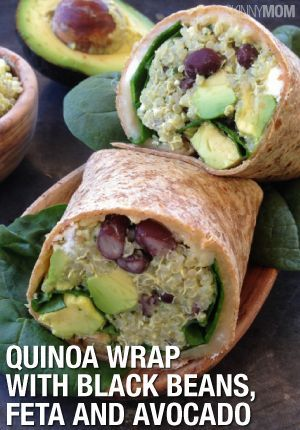 Quinoa Wrap With Black Beans, Feta And Avocado | Black Beans, Healthy ...