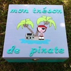 """Boîte à souvenirs """"mon trésor de pirate"""" sur commande"""