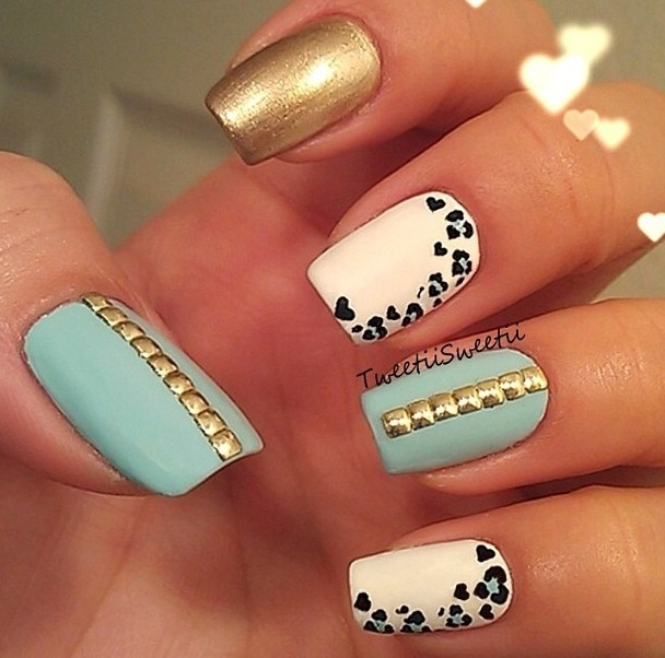 studded, leopard print, and metallic <3