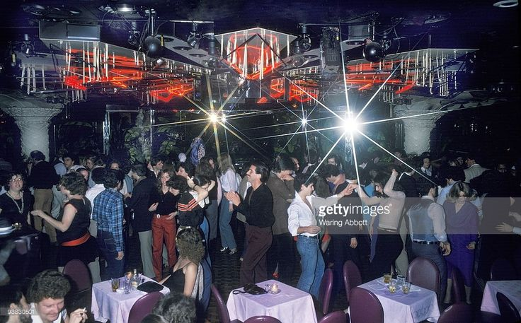 People dancing at the disco club Copacabana in New York City in 1979.