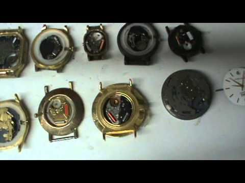 desarme y armado de reloj de pila parte 1