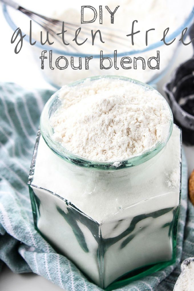 Easy to make homemade gluten free flour blend – perfect for baking cookies, muffins, cakes, and more.