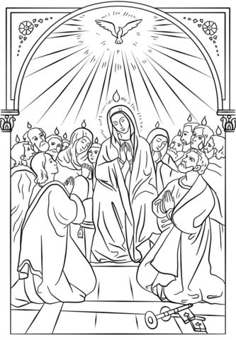 pentecost coloring page - 64 best the 7 sacraments images on pinterest 7