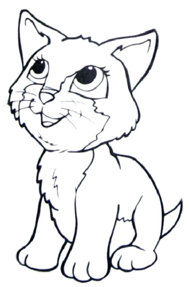 Cute Cat Coloring Pages Coloring Pages Animal Coloring Page