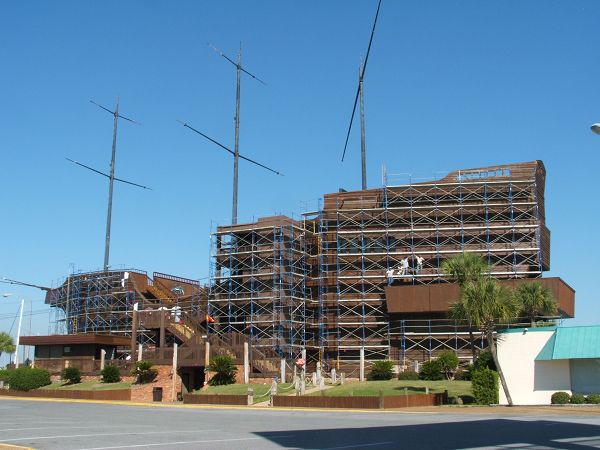 This just proves that you can put a scaffold around anything! Yesco Scaffold of Panama City, FL, who use RentControl to keep track of their scaffold parts, supplied the scaffolding surrounding this replica of the 16th century Spanish galleon, the Golden Hind, sailed by Sir Francis Drake, most recently the Treasure Ship restaurant. #rentalsoftware