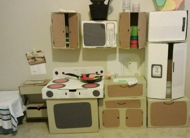 $0+Cardboard+Box+Play+Kitchen!