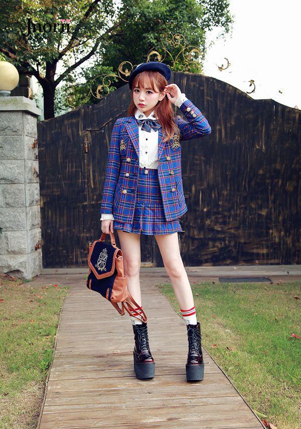 JK制服タータンチェックセット-全2色-C1271|Autumn Winter Collection | Bobon21(ボボンニジュウイチ)